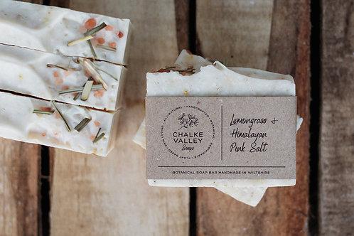Chalke Valley Soaps - Lemongrass & Himalayan Pink Salt