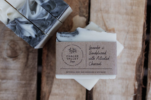 Chalke Valley Soaps - Lavender & Sandalwood with Activated Charcoal