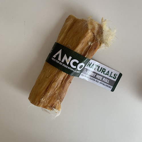 Anco Naturals Rabbit Hide Rolls with Hair