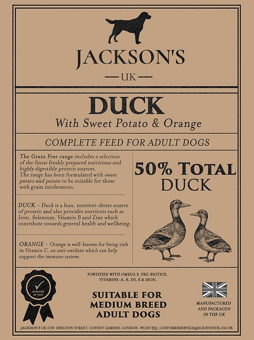 50% TOTAL DUCK - Medium Breed / Adult