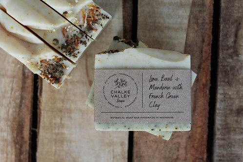 Chalke Valley Soaps - Lime, Basil & Mandarin with French Green Clay