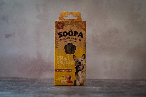 Soopa Banana and Peanut Butter Dental Sticks
