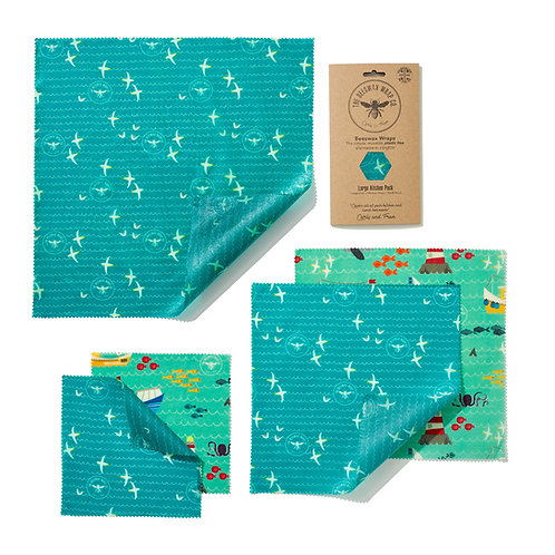 Beeswax Wraps Large Kitchen Pack