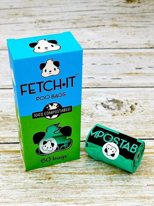 FETCH.IT poo bags - 60 pack
