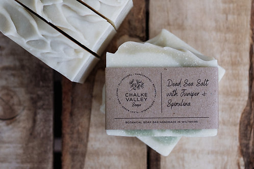 Chalke Valley Soaps - Dead Sea Salt with Juniper, Rosemary & Spirulina
