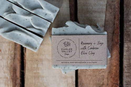 Chalke Valley Soaps - Rosemary & Sage with Cambrian Blue Clay