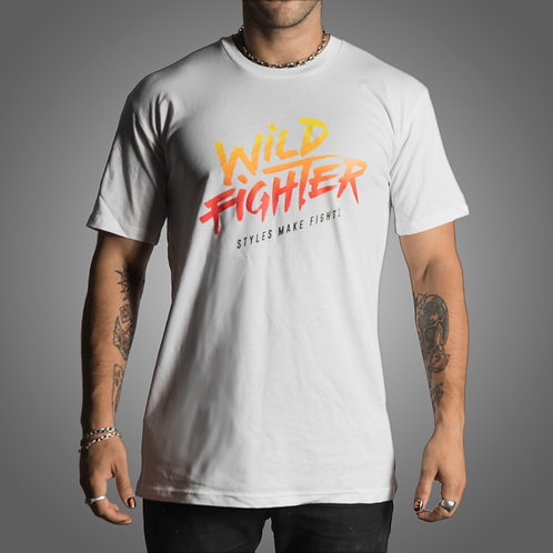Wildfighter white tee (Colour Logo)