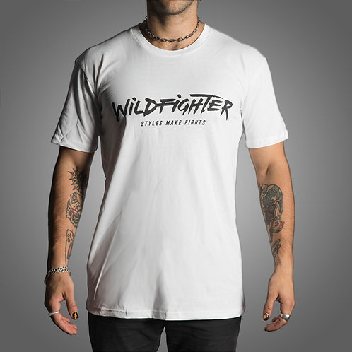 Wildfighter White Tee (Black Logo)