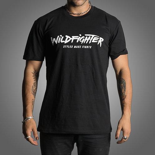 Wildfighter Black Tee (White Logo)