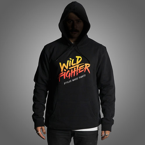 Wildfighter Black Hoodie (Colour Logo)