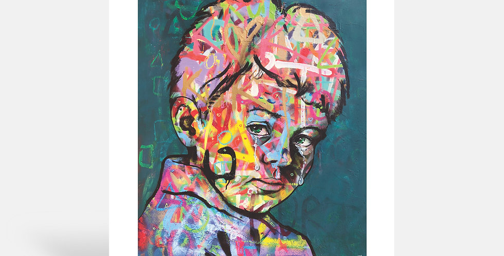 The Crying Boy - Art Print