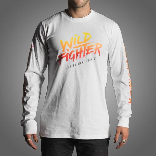 Wildfighter Long-Sleeve white (colour logo)