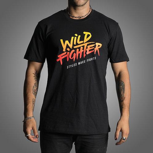 Wildfighter black tee (colour logo)