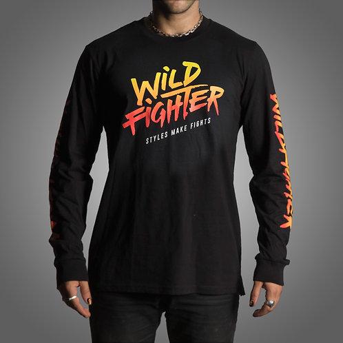 Wildfighter Long-sleeve black (colour logo)