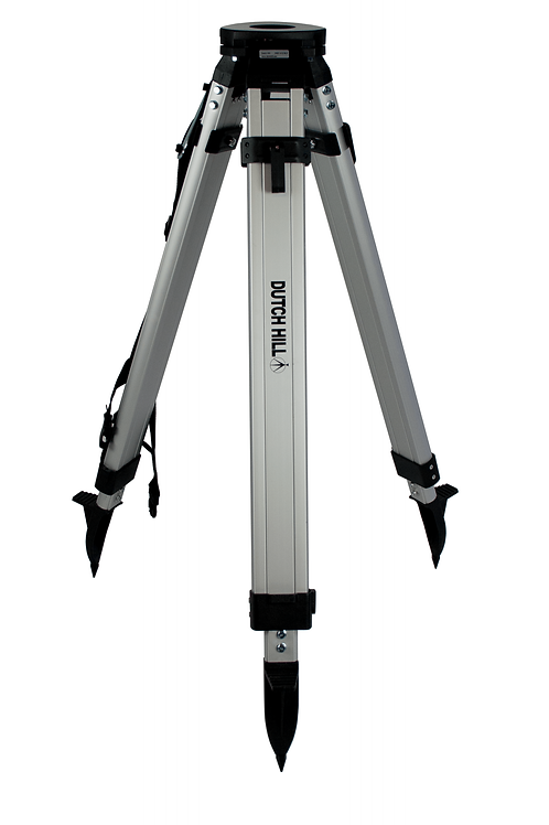DH01-012-BLK Square leg aluminum tripod with quick clamp, fat head, black
