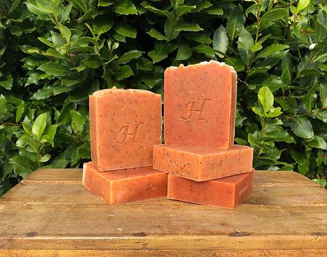 Orange and Poppy Seed Soap