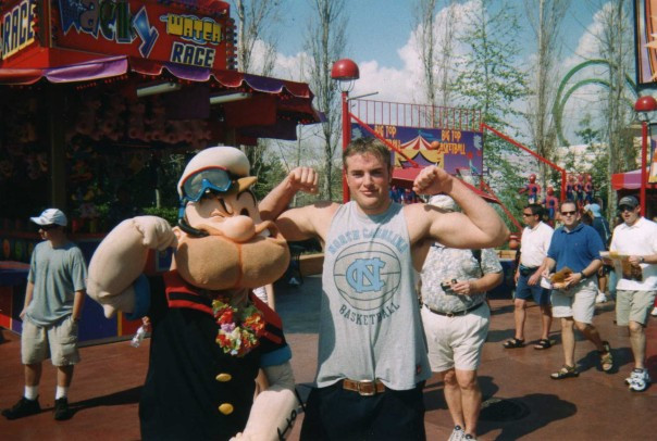 Brad and Popeye in Orlando