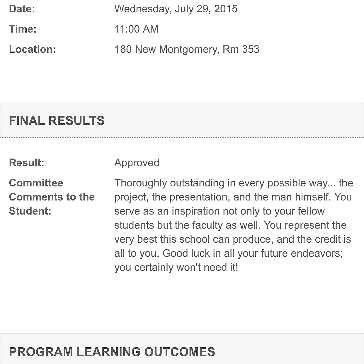 Thesis Final Review Result