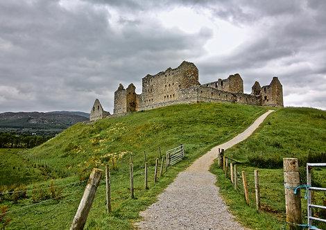 Castelo abandonado, Escócia