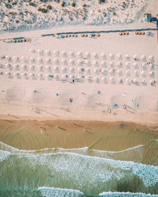 Vista aéra da praia