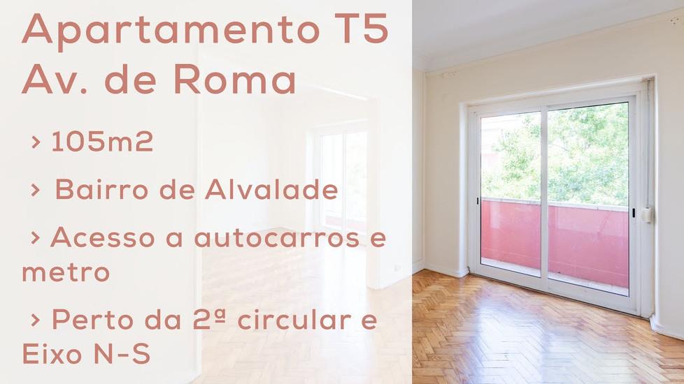 Vídeo Apartamento T5