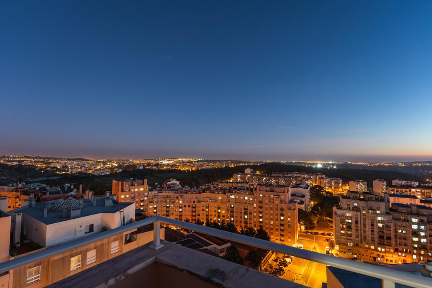 Vista Noturna Terraço Apartamento
