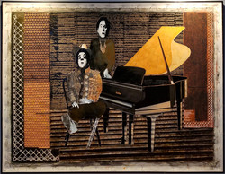 "Rising Sun blues, 2003, 58""x72"""