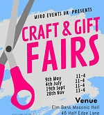 Craft and Gift Fairs at Elmbank Masonic Hall