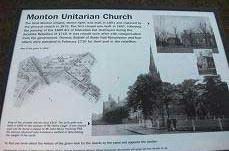History boards on Monton Green