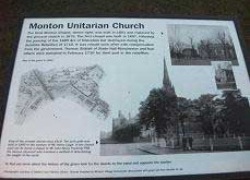 History boards on Monton Green