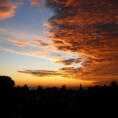 The Barcelona sky