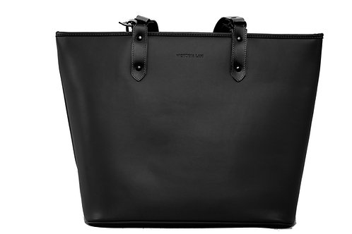 Duchess Leather Tote Bag Black