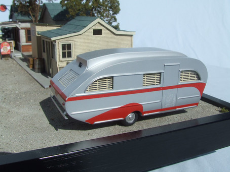 Making a 1947 Aero Flite Falcon Travel Trailer in 1/48 Scale.