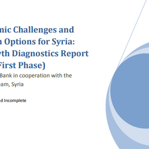 Economic Challenges and Reform Options for Syria: A Growth Diagnostics Report