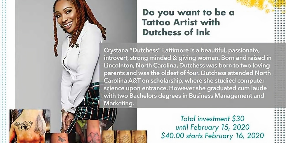 Elevation 2020: Do you want to be a Tattoo Artist