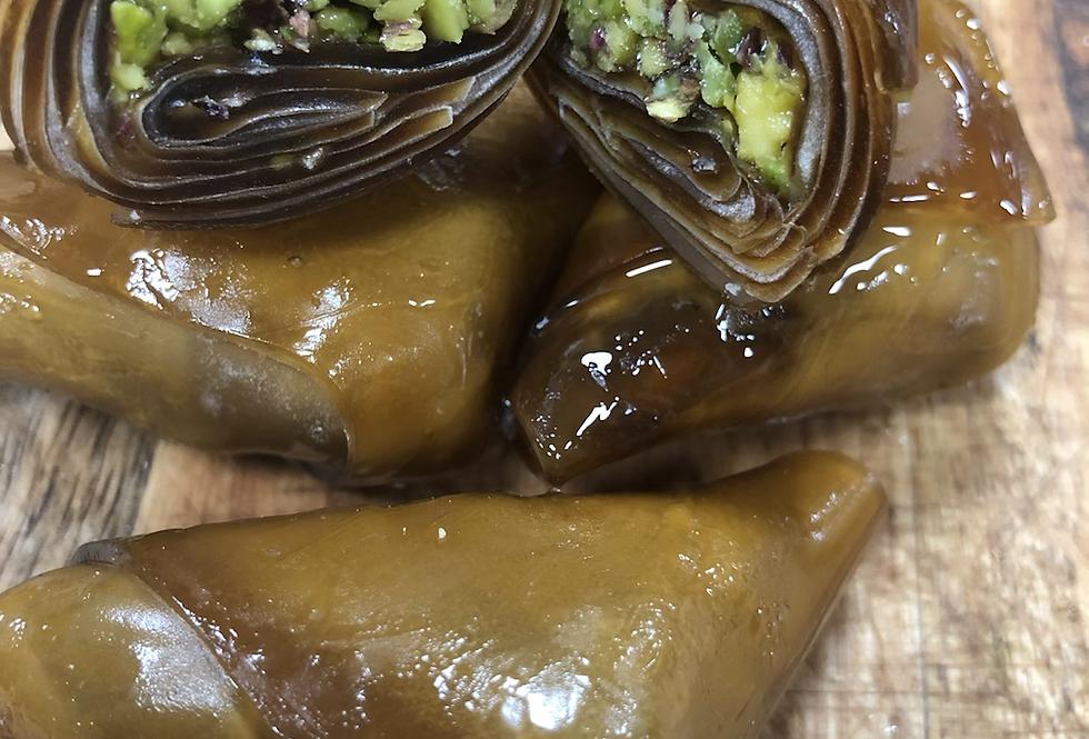Antep fıstıklı ballı muska pestil