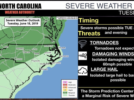 Low Severe Weather Risk Tuesday