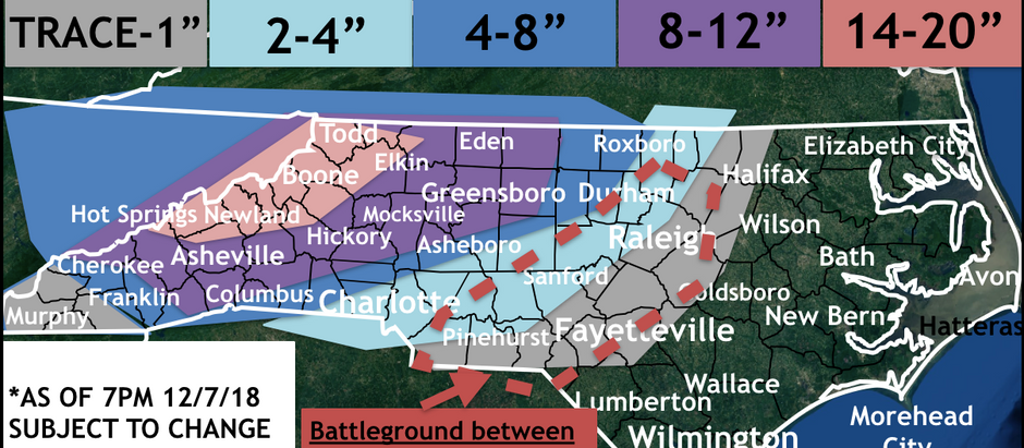 FORECAST SNOW ACCUMULATIONS INCREASE AS WINTER STORM APPROACHES