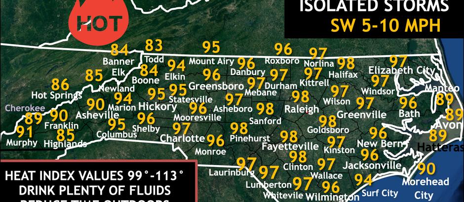 FORECAST: Tuesday, July 21, 2020, same old same hot with a few storms possible