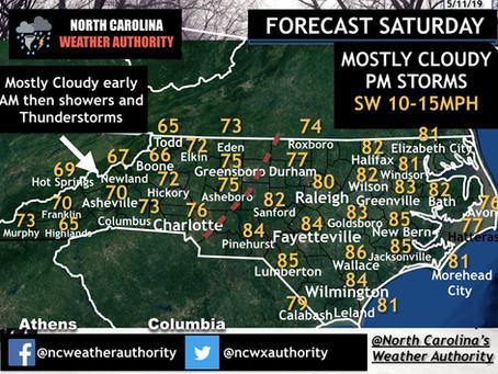Saturday 5/11/19 Daily Forecast