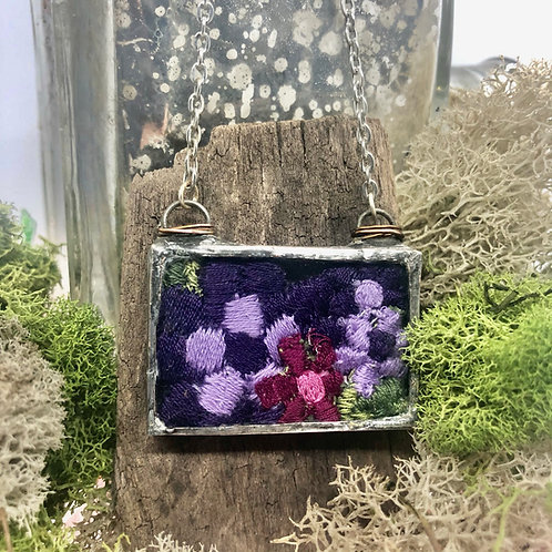 Vintage Flower Trim  Necklace