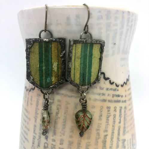 Tin & Bead Earring 7