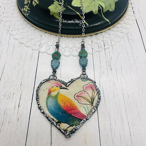 Tin Hearts Necklace - Paradise