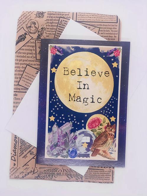 Believe In Magic Blank Card