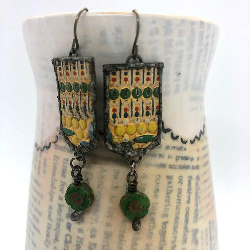 Tin & Bead Earring 4