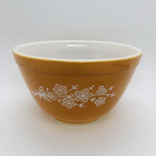 Butterfly Gold Pyrex Bowl