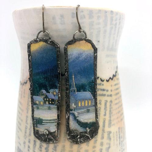 Long Tin Earrings 14