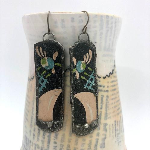 Long Tin Earrings 7