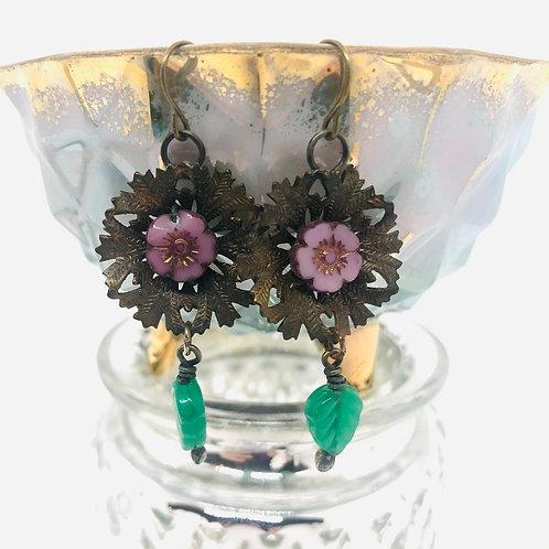 Brass Blooms Earrings