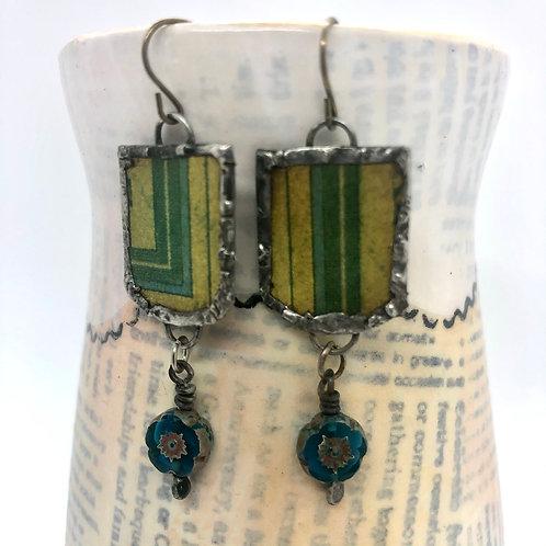 Tin & Bead Earring 9